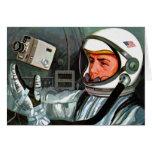 Retro Vintage Kitsch NASA Astronaut Super 8 Camera Greeting Card