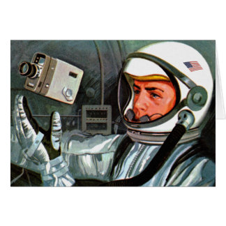 Retro Vintage Kitsch NASA Astronaut Super 8 Camera Card