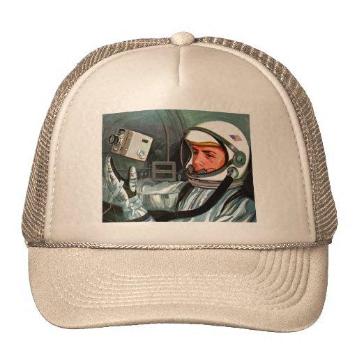Retro Vintage Kitsch NASA Astronaut Super 8 Camera Trucker Hat