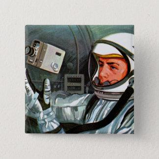 Retro Vintage Kitsch NASA Astronaut Super 8 Camera Pinback Button