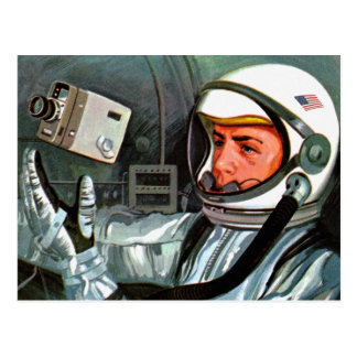Retro Vintage Kitsch NASA Astronaut Super 8 Camera Postcard