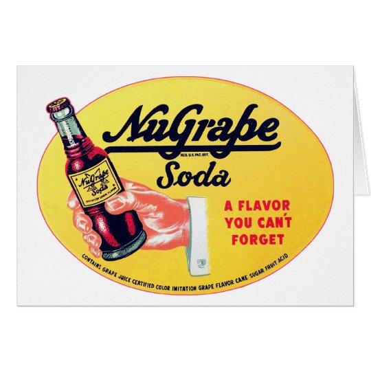 Retro Vintage Kitsch NuGrape Grape Soda Pop Sign Card