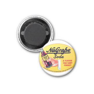 Retro Vintage Kitsch NuGrape Grape Soda Pop Sign Magnet