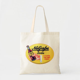 Retro Vintage Kitsch NuGrape Grape Soda Pop Sign Tote Bag