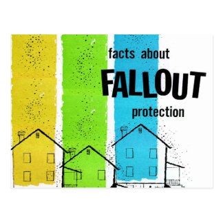 Retro Vintage Kitsch Nukes Facts About Fallout Postcard