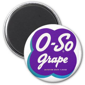 Retro Vintage Kitsch O-So Oso Soda Pop Logo 2 Inch Round Magnet