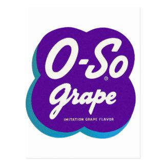 Retro Vintage Kitsch O-So Oso Soda Pop Logo Postcard