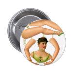 Retro Vintage Kitsch Odd Acrobat Paper Doll 2 Inch Round Button