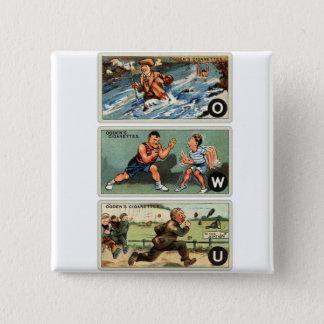 Retro Vintage Kitsch Ogden's Cigarette Cards Button