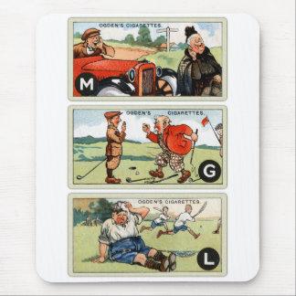 Retro Vintage Kitsch Ogden's Cigarette Cards Mouse Pad