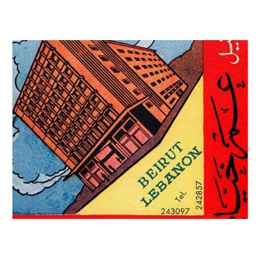 Retro Vintage Kitsch Omar Khayyam Hotel Beirut Postcards