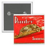 Retro Vintage Kitsch Panther Cigars Dutch Tin Box Button