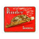 Retro Vintage Kitsch Panther Cigars Dutch Tin Box Post Card