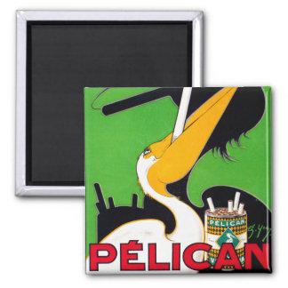 Retro Vintage Kitsch Pelican Brand Cigarettes 2 Inch Square Magnet
