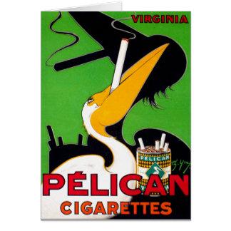 Retro Vintage Kitsch Pelican Brand Cigarettes Card