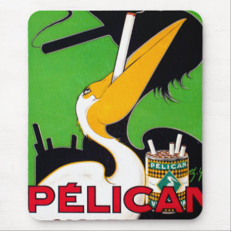 Retro Vintage Kitsch Pelican Brand Cigarettes Mouse Pad
