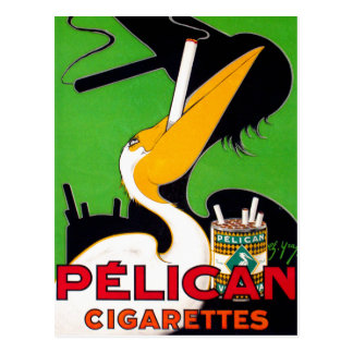 Retro Vintage Kitsch Pelican Brand Cigarettes Postcard
