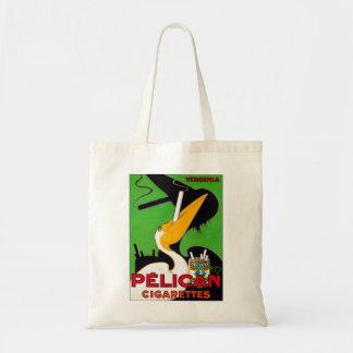 Retro Vintage Kitsch Pelican Brand Cigarettes Tote Bag