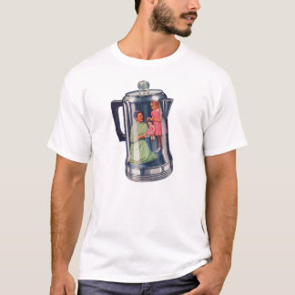 Retro Vintage Kitsch 'Percolator Coffee Mama' T-Shirt