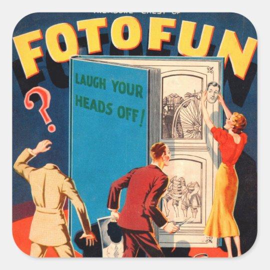Retro Vintage Kitsch Photography Fotofun Square Sticker