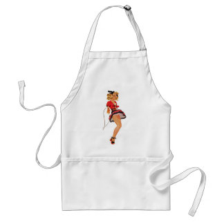Retro Vintage Kitsch Pin Up 50s Sweetheart Girl Aprons
