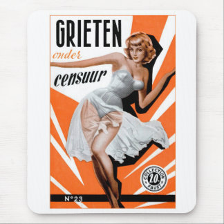 Retro Vintage Kitsch Pin Up 60s Dutch Chicks Mouse Pad