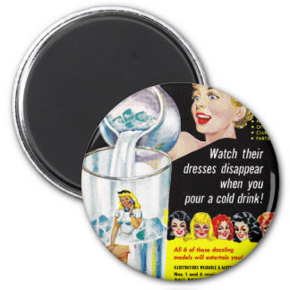 Retro Vintage Kitsch Pin Up Follies Girls Glasses Magnet