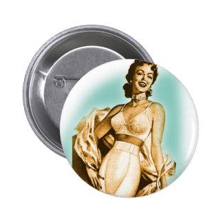 Retro Vintage Kitsch Pin Up Girl Underwear Bra Ad
