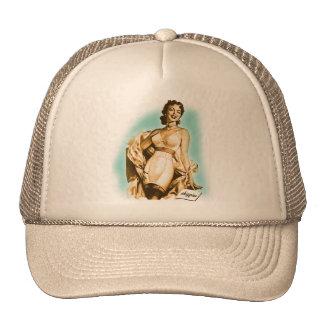 Retro Vintage Kitsch Pin Up Girl Underwear Bra Ad Trucker Hat