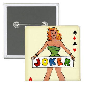 Retro Vintage Kitsch Pin Up Joker Playing Card
