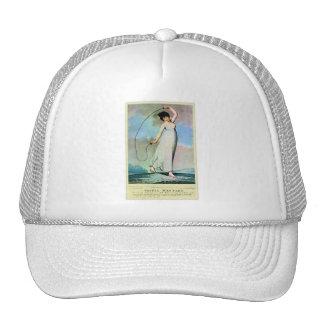 Retro Vintage Kitsch Pin Up Jump Roping Sophie W Trucker Hat