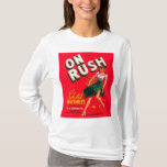 Retro Vintage Kitsch Pin Up On Rush Fruit Crate T-Shirt