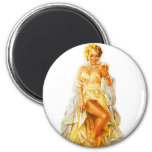 Retro Vintage Kitsch Pin Up Pinup Beer Love Girl 2 Inch Round Magnet