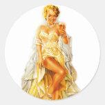 Retro Vintage Kitsch Pin Up Pinup Beer Love Girl Sticker