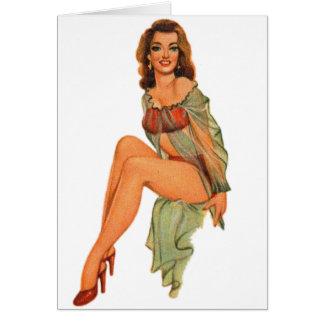 Retro Vintage Kitsch Pin Up Pinup Showgirl Gams Card