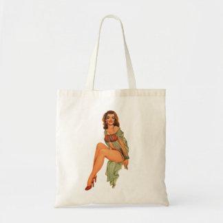 Retro Vintage Kitsch Pin Up Pinup Showgirl Gams Tote Bag