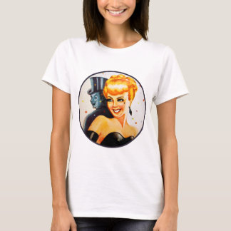 Retro Vintage Kitsch Pin Up Pinup Showgirl T-Shirt