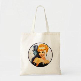 Retro Vintage Kitsch Pin Up Pinup Showgirl Tote Bag