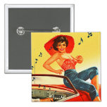 Retro Vintage Kitsch Pin Up Rock N Roll Radio Girl