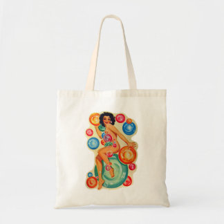 Retro Vintage Kitsch Pin Up Showgirl Bubbles Tote Bag
