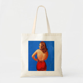 Retro Vintage Kitsch Pin Up Showgirl Rear View Tote Bag