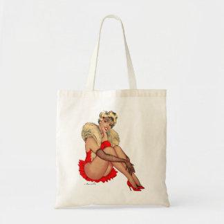 Retro Vintage Kitsch Pin Up Showgirl Tote Bag
