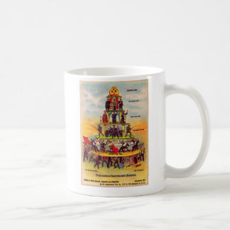 Retro Vintage Kitsch Politics Capitalism Postcard Coffee Mug