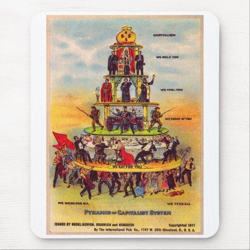 Retro Vintage Kitsch Politics Capitalism Postcard Mouse Pad