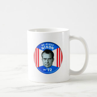 Retro Vintage Kitsch Politics Re-Elect Nixon in 72 Coffee Mug