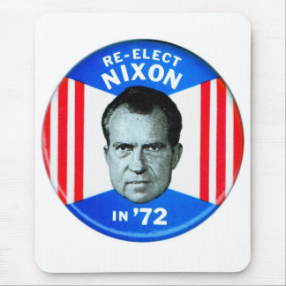 Retro Vintage Kitsch Politics Re-Elect Nixon in 72 Mouse Pad