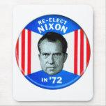 Retro Vintage Kitsch Politics Re-Elect Nixon in 72 Mouse Pad