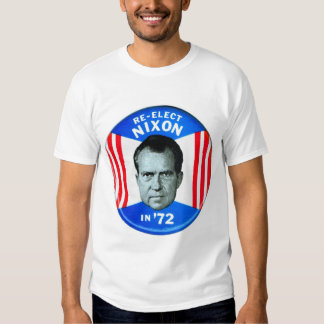 Retro Vintage Kitsch Politics Re-Elect Nixon in 72 T-shirts