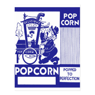 Retro Vintage Kitsch Popcorn Box Popped Perfection Postcard