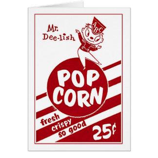 Retro Vintage Kitsch Popcorn Mr. Dee-lish Card